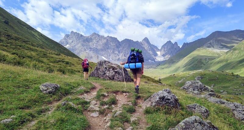 Trekking z Omalo do Juta, Kazbek. Gruzja z plecakiem