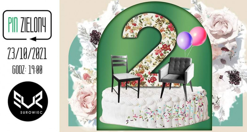 Pin Zielony świętuje 2 urodziny|Komediowy spektakl improwizowany